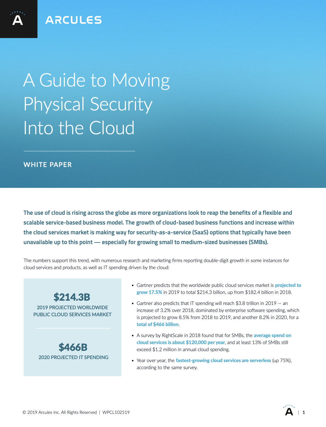 A Guide to Moving Physical Security Into the Cloud